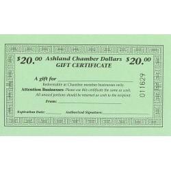 $20.00 Chamber Dollars