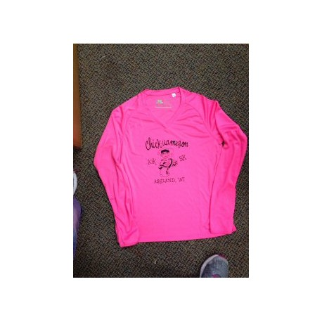 Chick Bright Pink Long Sleeve Shirt